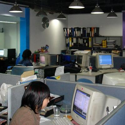 The layout of one of our journalism placements in China